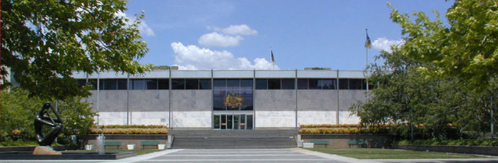 Front of the ACT Supreme Court building