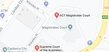 ACT Courts map location